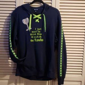 Embellished Seattle Seahawks Hoodie